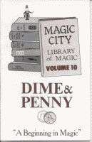DIME & PENNY BOOK Close Up Coin Magic Tricks Learn Magician Tips Ideas