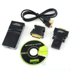 USB To VGA/DVI/HDMI Multi Display Adapter Converter Electronics